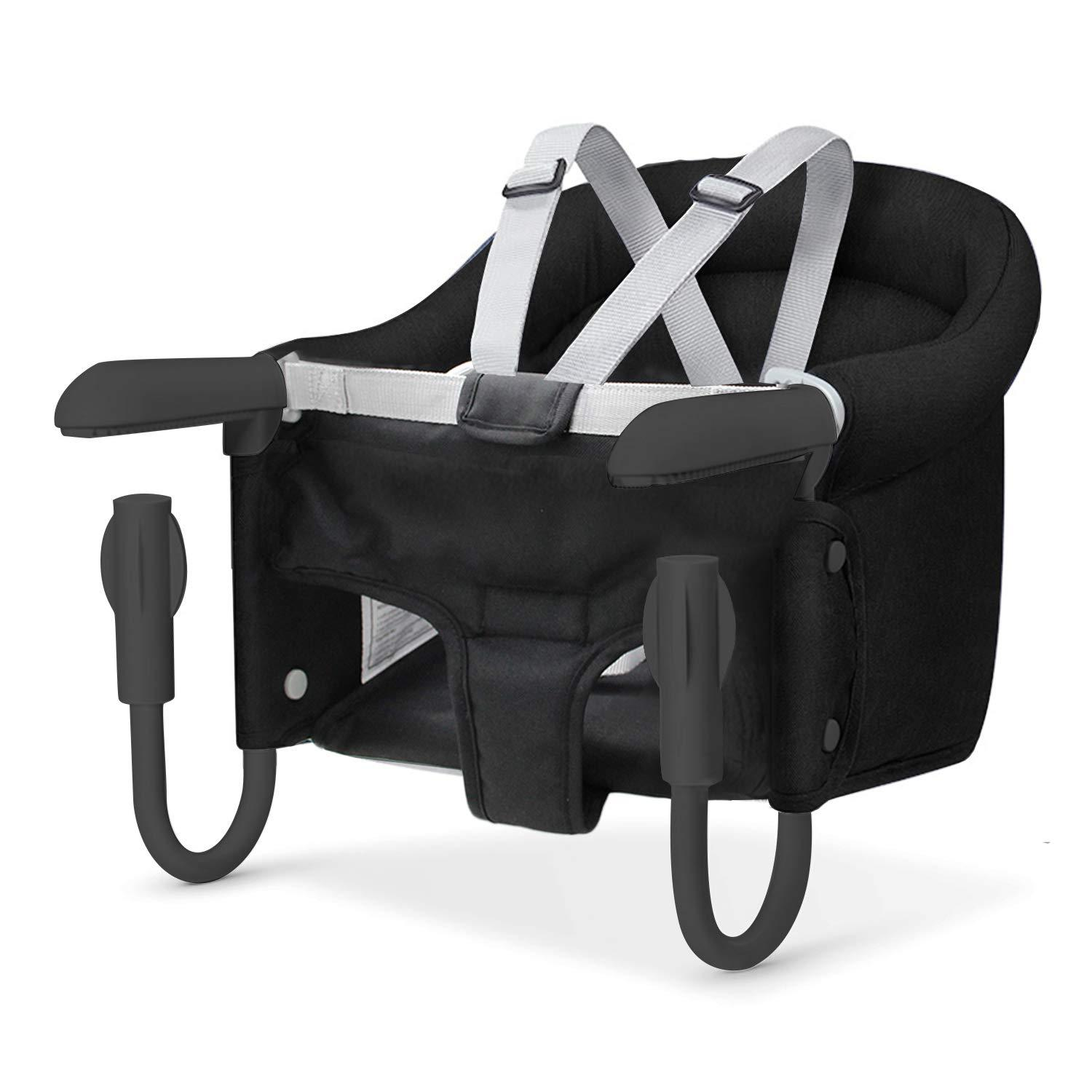 Hook On High Chair, Portable Baby Clip on Table High Chair, Space Saver High Chair Black by TCBunny
