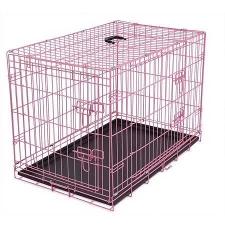 Large Wire Dog Kennel | Internet S Best Wire Dog Kennel Large 42 Inches Double Door