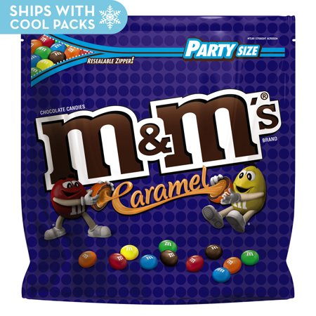 M&M's, Caramel Chocolate Candy, Party Size, 38 - Caramel Apples For Halloween Party