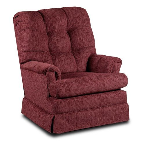 Chelsea Home Del Ray Burgundy Swivel Rocker