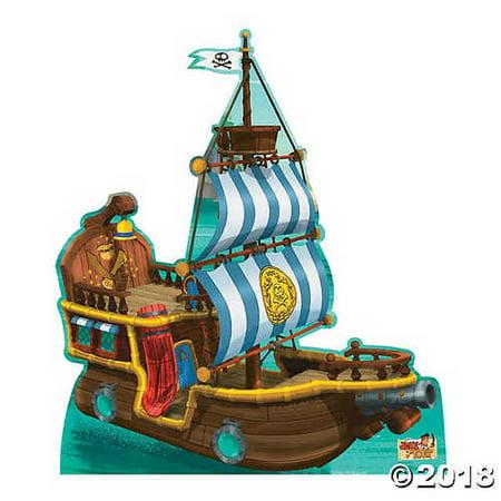 Advanced Graphics Bucky Pirate Ship Life Size Cardboard Cutout Standup - Disney Junior's Jake and the Never Land Pirates - Cardboard Ship