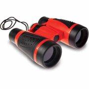 Educational Insights GeoSafari Compass Roof Prism Binoculars (Black & Red)