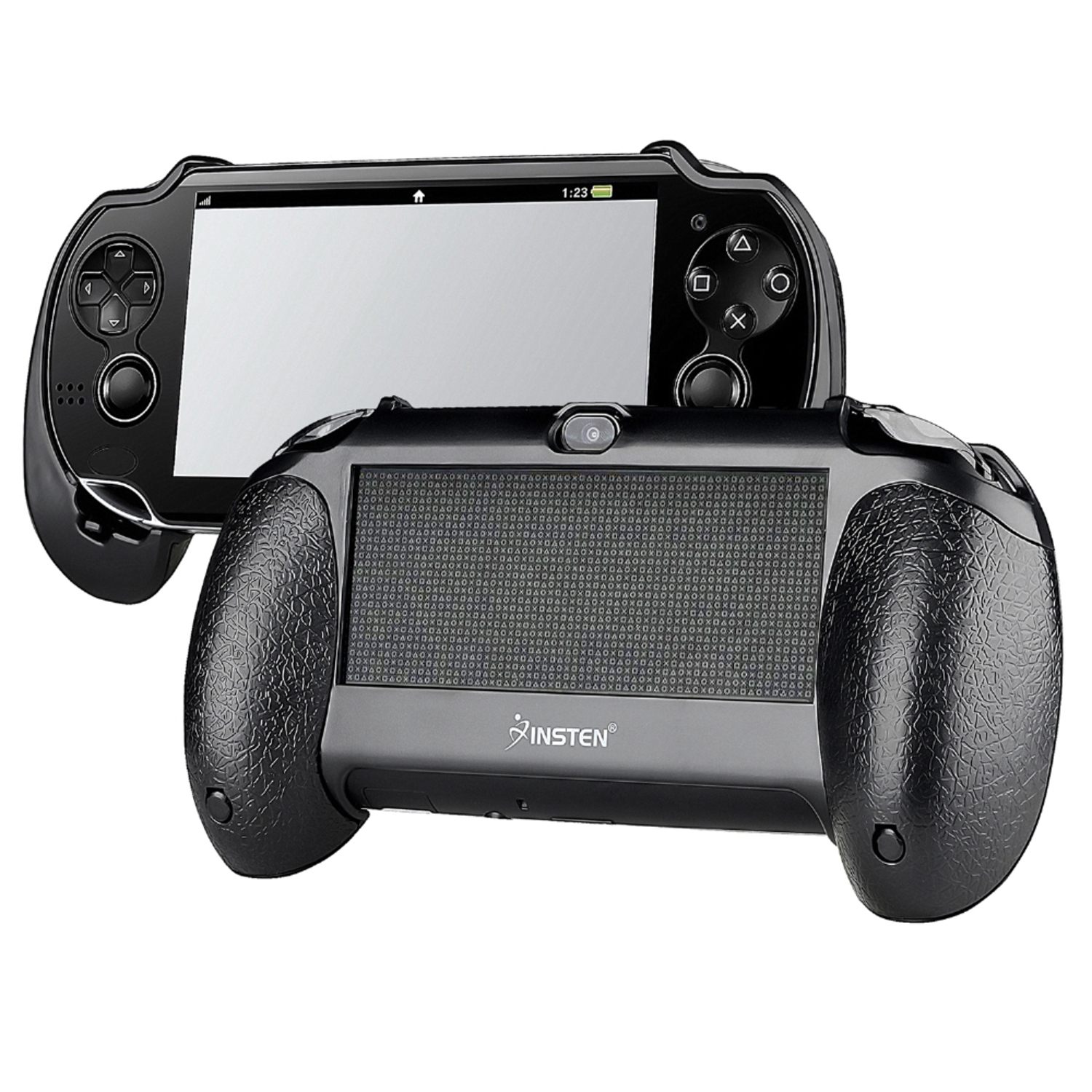 Insten For Sony PS Vita PSV Black Bracket Joypad Hand Grip Holder Handle