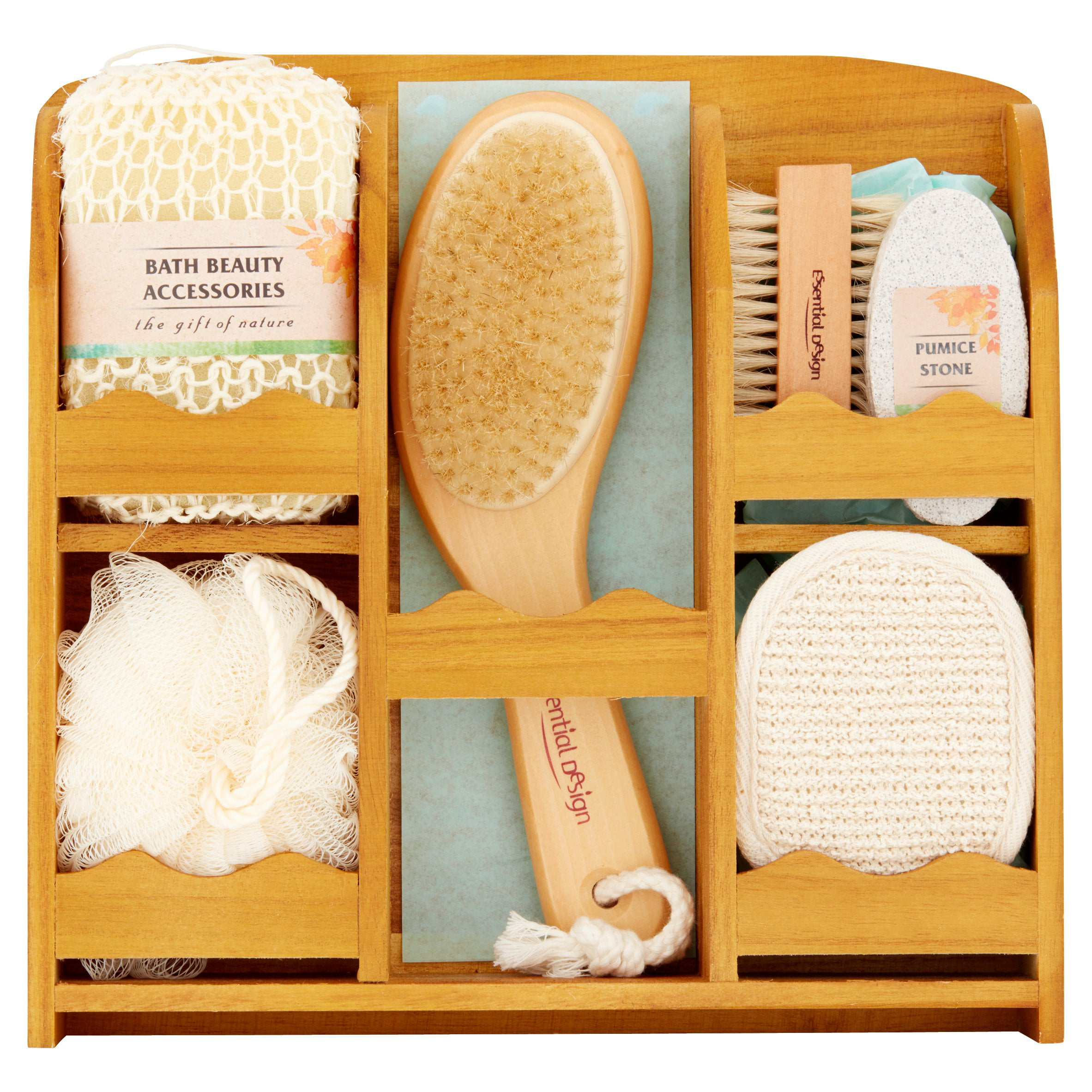 Essential Design Bath Set in Wooden Crate, 7 pc by Wal-Mart Stores, Inc.