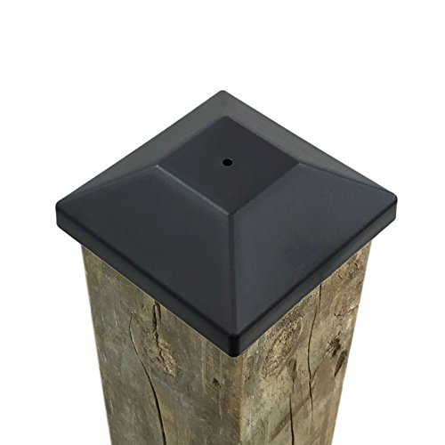 32 Pack New Wood Fence Post Black Caps 4x4 3 5 8 For Pressure Treated Wood Made In Usa Walmart Com Walmart Com