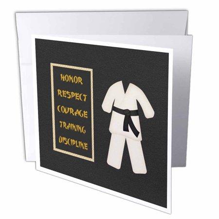 3drose karate karategi uniform black belt honor respect courage 3drose karate karategi uniform black belt honor respect courage train discipline greeting cards 6 m4hsunfo