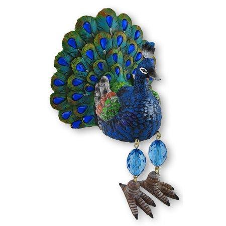 Blue Regal Peacock Shelf Dangler Figurine Shelf Sitter for $<!---->