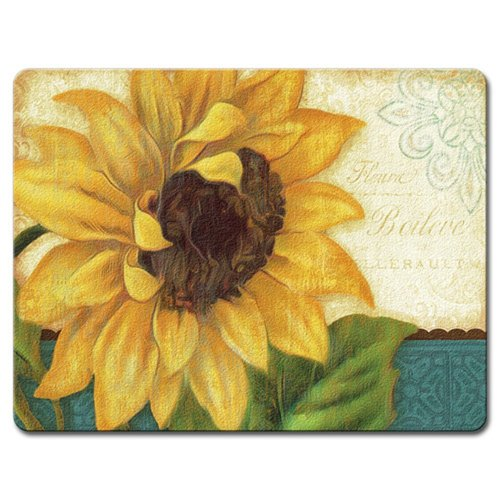 Highland Home Sunflower Glass Cutting Board