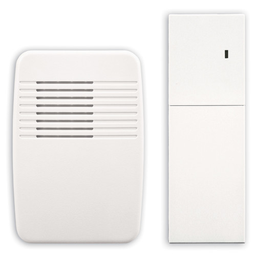 heathzenith wireless plugin door chime extender in white