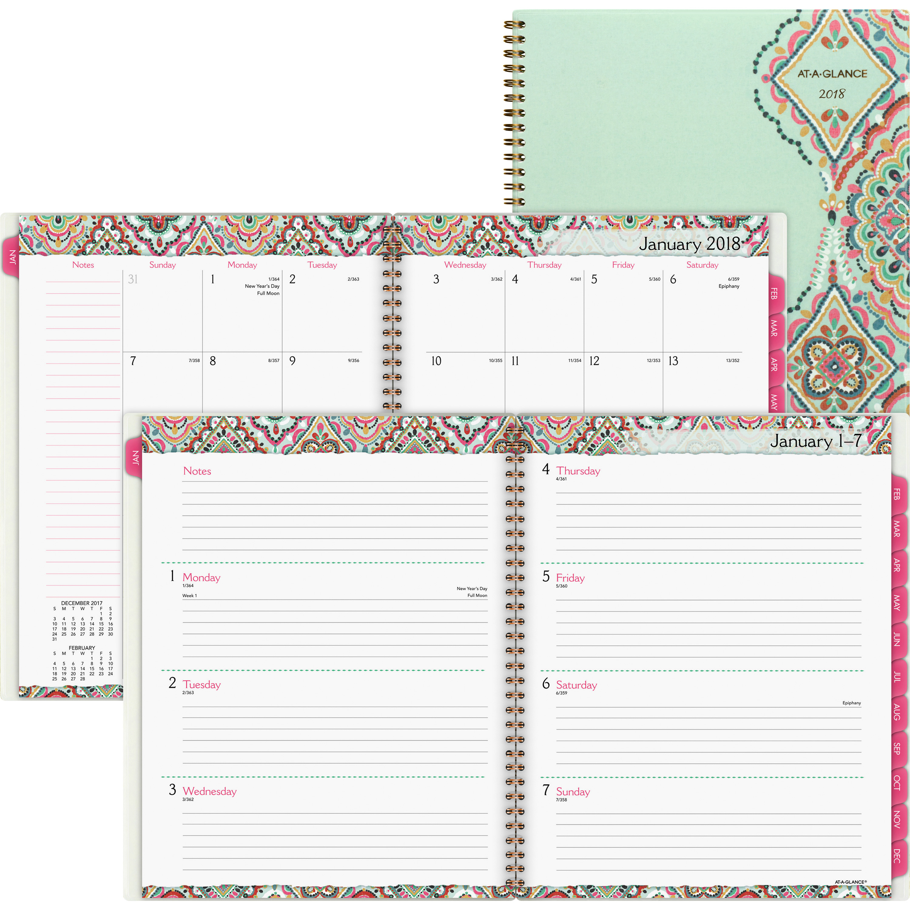 At-A-Glance AAG182905 8.5 x 11 in. Marrakesh Weekly-Monthly Planner