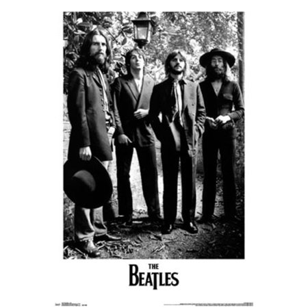The Beatles Lamp Black And White Music Poster 22x34
