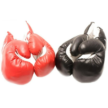2 Pair of New Boxing / Punching Gloves and Fitness Training Red and Black - 12oz