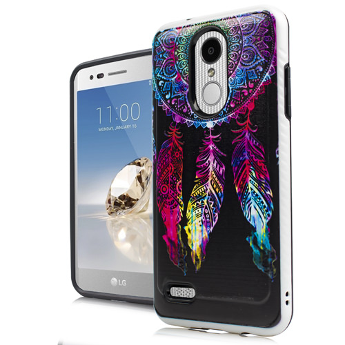 Mundaze Colorful Dreamcatcher Brushed Armor Anti-Shock Case For LG Zone 4 Phone
