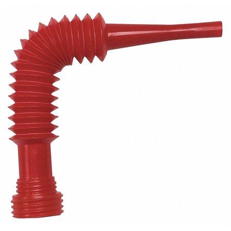 Funnel King Flexible Pouring Spout, 3-1/2 oz. Red  Polyethylene  32187