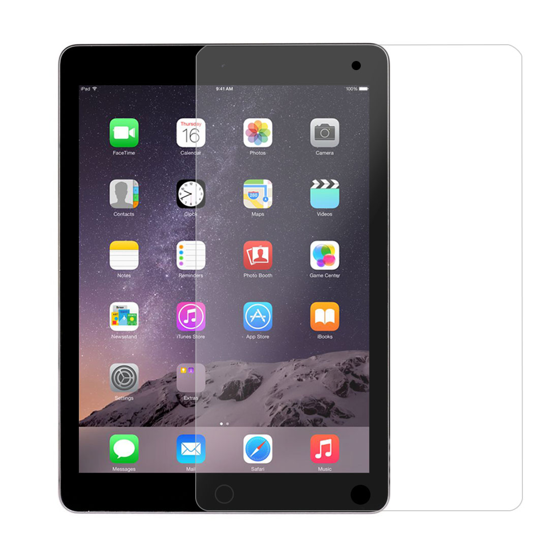 Unique Bargains Plastic Anti Fingerprint Film Screen Protector Clear 3pcs for IPad Pro/Air 1/2