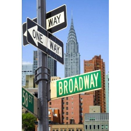 Broadway Street Sign In New York City Journal  150 Page Lined Notebook Diary