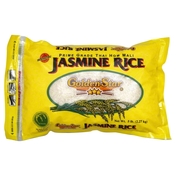 Golden Star Jasmine Rice, 5 lbs
