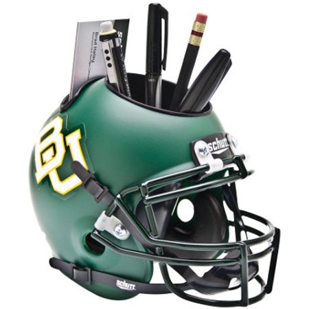 Baylor Bears (Matte Green) NCAA Football Schutt Mini Helmet Desk Caddy