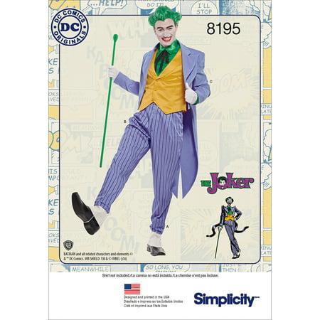 Simplicity DC Comics Men's Joker Costume Pattern, 1 Each](Joker Costume Pinterest)