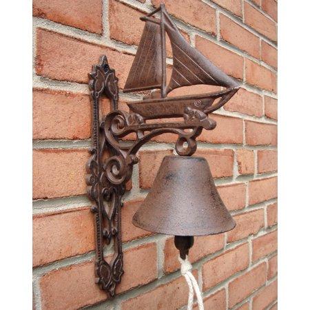 Metal Wall Mount Sailboat Call Bell Sailing Ship Sail Boat Porch/Home/Door Decor](Sailboat Supplies)