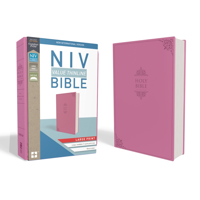 NIV, Value Thinline Bible, Large Print, Imitation Leather, Pink (Hardcover)