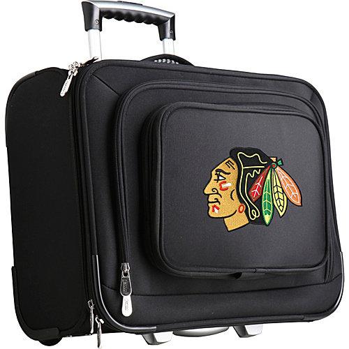 Denco NHL Wheeled Laptop Overnighter, Chicago Blackhawks by Mojo Licensing