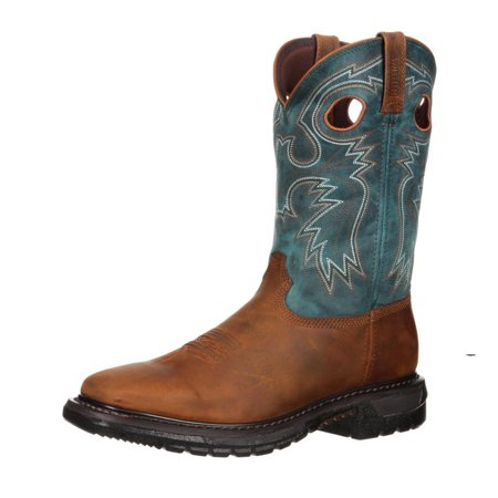 Rocky Men's Original Ride Western Boot Square Toe - - Rocky Ride Square