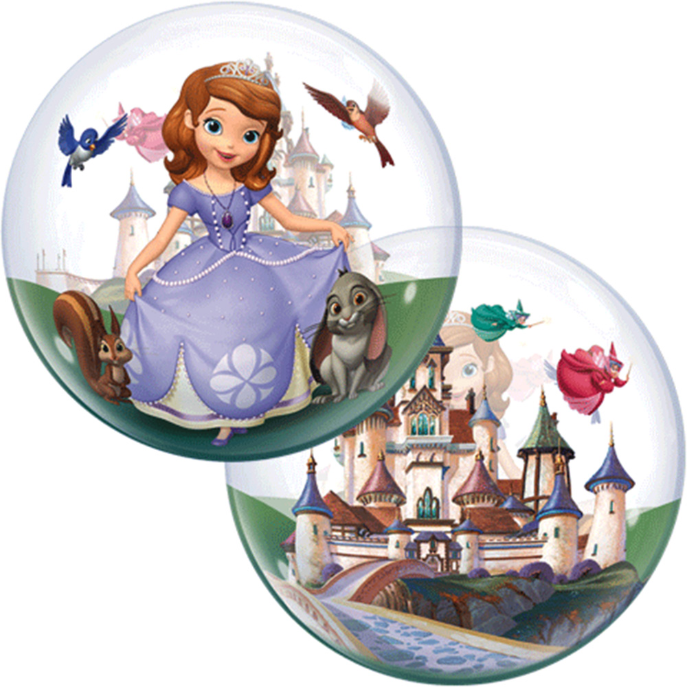 """Sofia The First Bubbles Stretchy Plastic Balloon 22"""""""