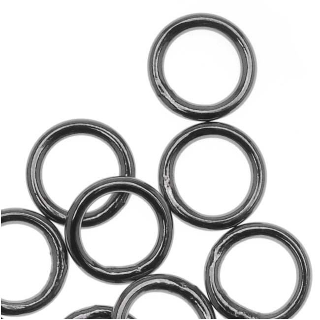 Gun Metal Plated Closed 6mm Jump Rings 19 Gauge (20)