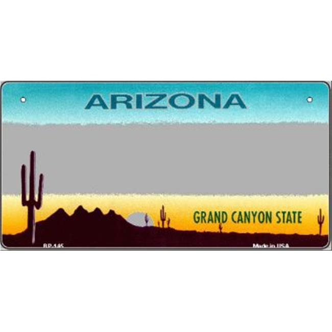 Smart Blonde BP-145 Arizona Gray State Background Novelty Bicycle License Plate
