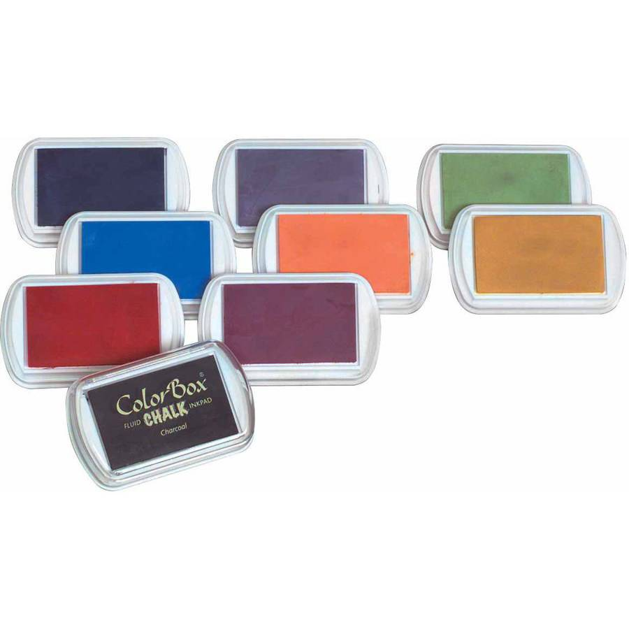 Colorbox Fluid Chalk Stamp Pads, Assorted Colors, Set of 8