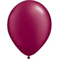 Qualatex 6235 11 in. Pearl Burgundy Latex Balloon - 25 Count