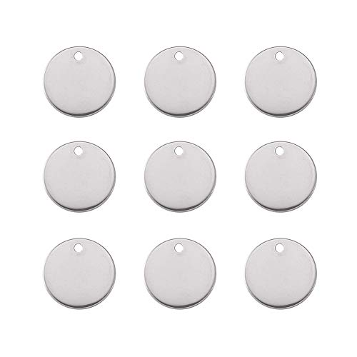 Tacool 925 Sterling Silver Round Stamping Blanks Coin Disc Tag Charms Pendant#49