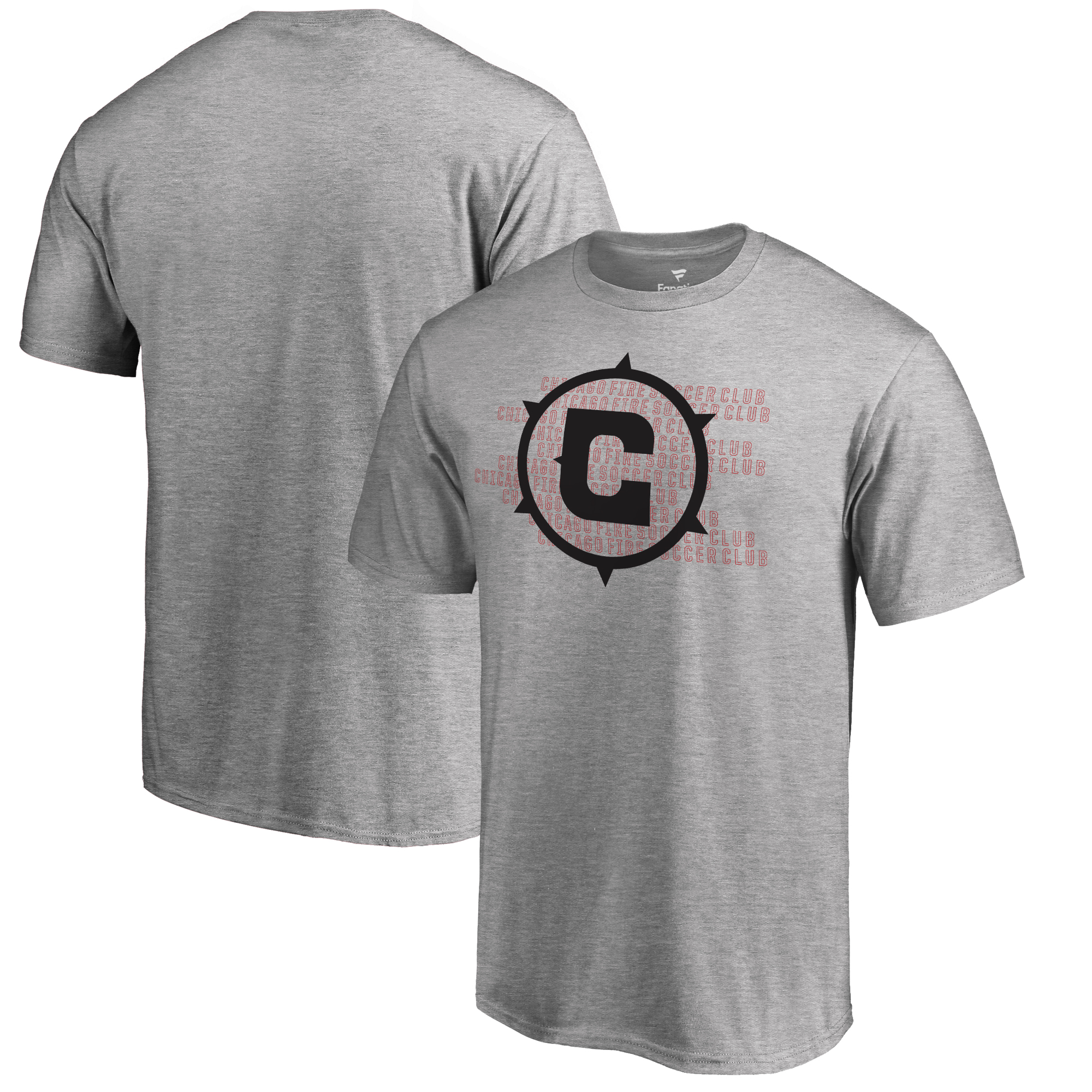 Chicago Fire Fanatics Branded Repeat T-Shirt - Heathered Gray