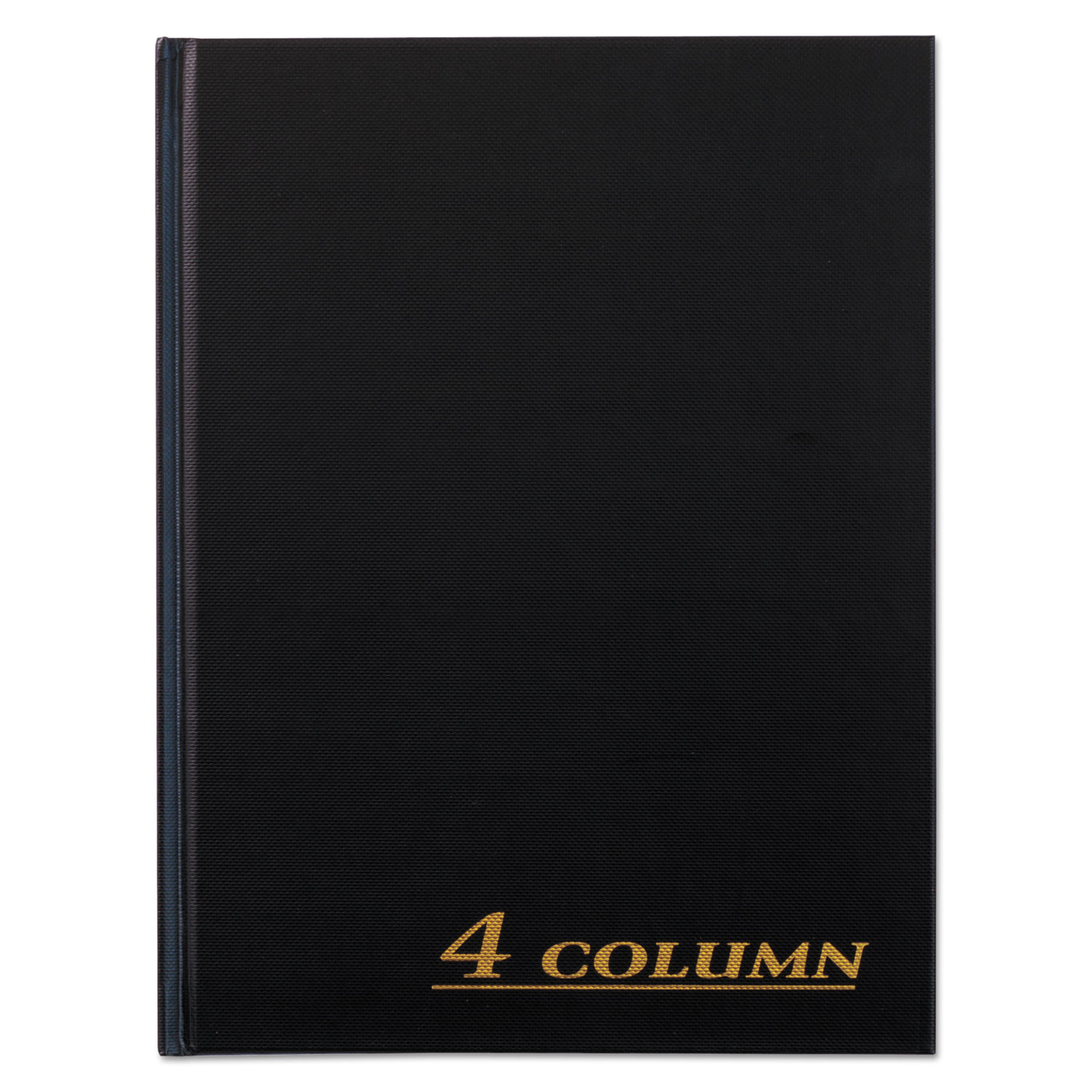 Account Book, 4 Column, Black Cover, 80 Pages, 7 x 9 1 4 by Cardinal Brands