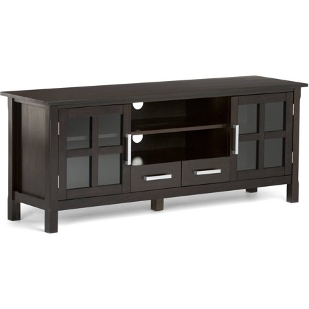 Brooklyn + Max Providence Dark Walnut Brown 60″ Wide TV Media Stand for TVs up to 66″