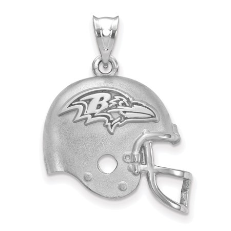 Baltimore Ravens Sterling Silver Football Helmet Pendant - No Size