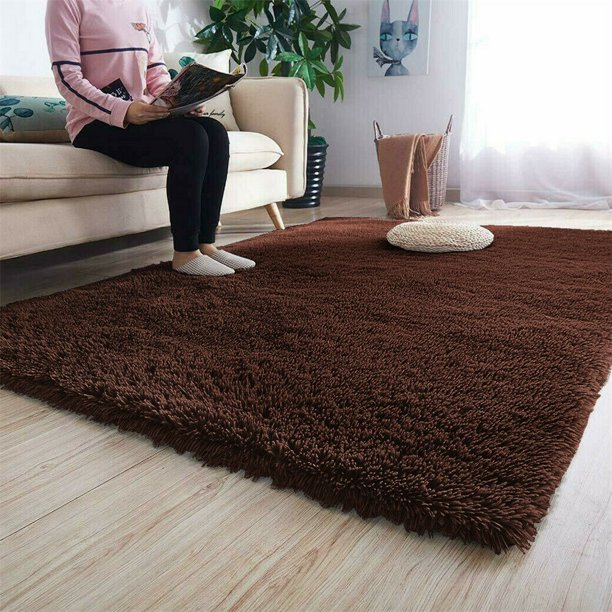 24x47 Inch Modern Fluffy Rugs Anti Skid Non Slip Shaggy Area Rug Dining Room Home Bedroom Carpet Yoga Mat Child Rugs Carpets Play Floor Mat Warm Material 1 77 Inch Thickness Walmart Com