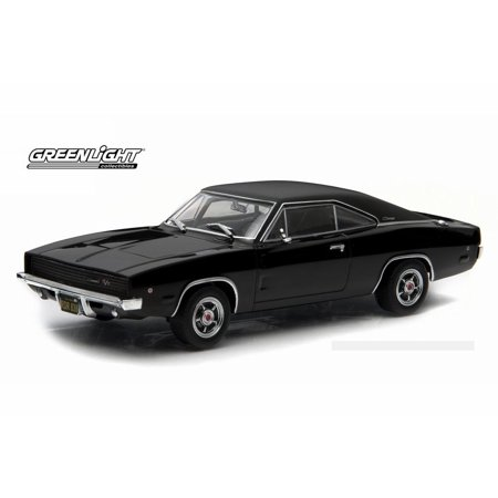 Bullitt 1968 Dodge Charger, Black - Greenlight 86432 - 1/43 Scale Diecast Model Toy Car