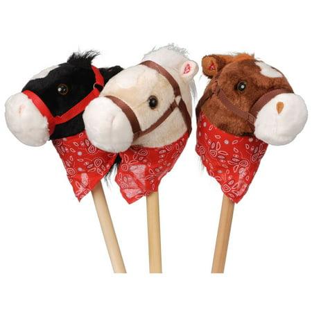 Gift Corral Plush Stick Horses with Bandanna