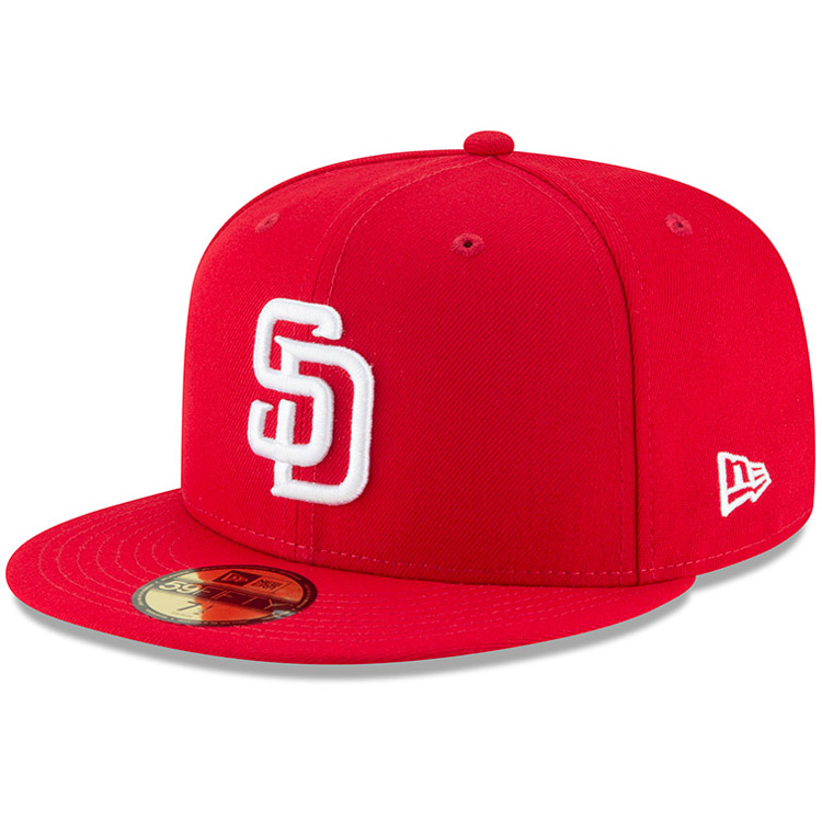 San Diego Padres New Era Fashion Color Basic 59FIFTY Fitted Hat - Red