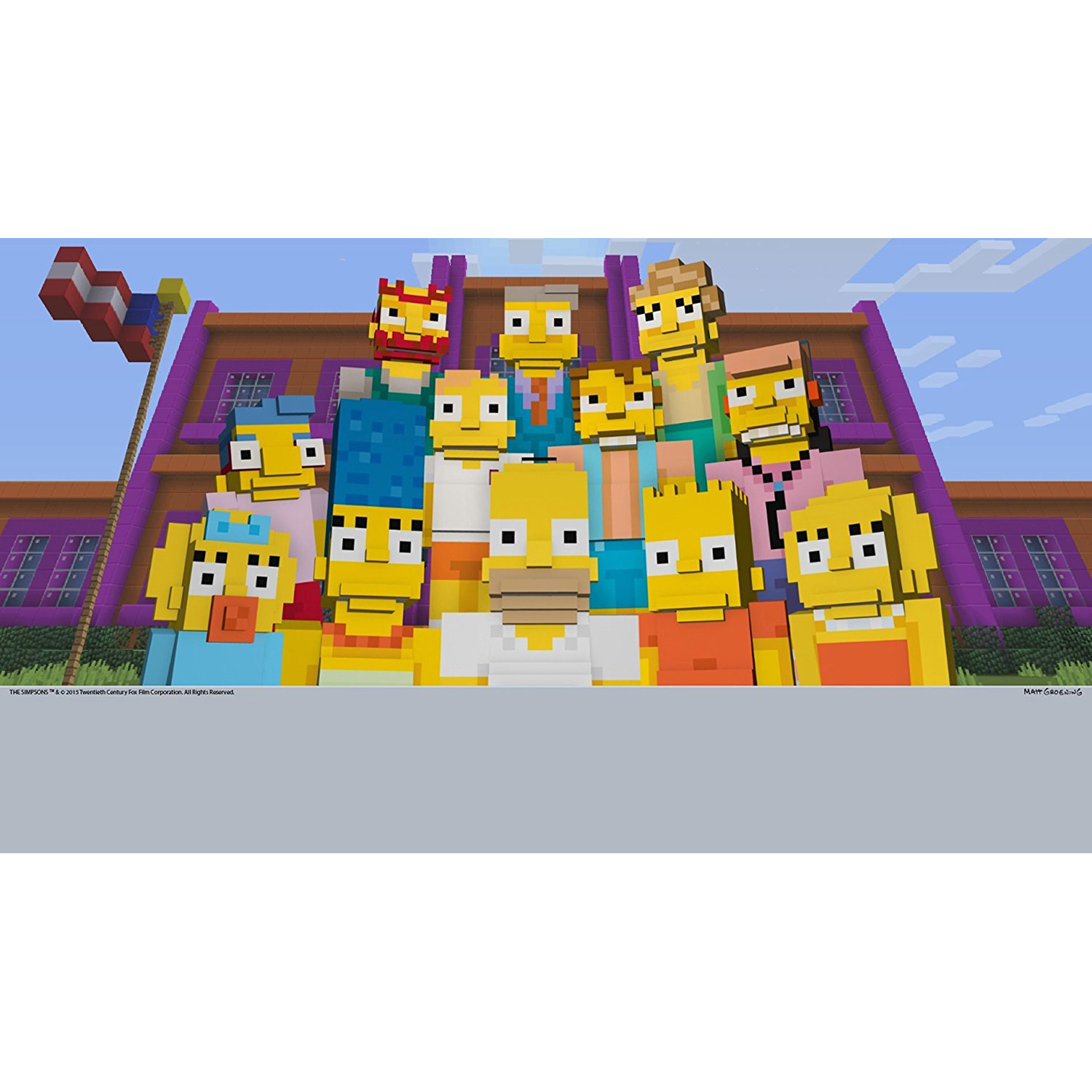 Minecraft Wii U Edition Dlc The Simpsons Skin Pack Nintendo