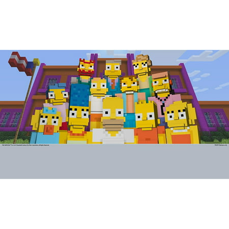 Minecraft: Wii U Edition DLC - The Simpsons Skin Pack, Nintendo, WIIU, [Digital Download], 0004549666124](Halloween Skin Pack Minecraft Pc)