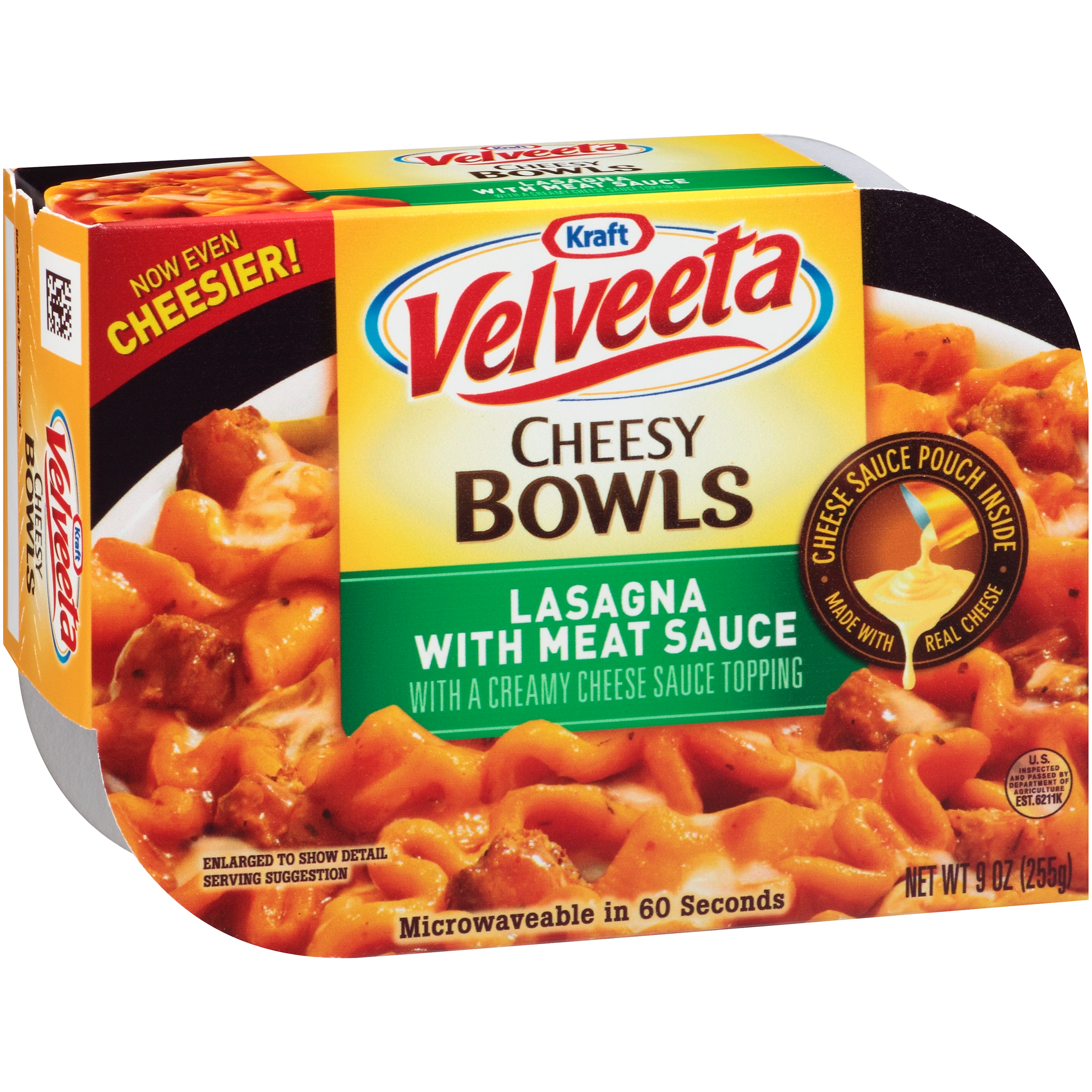 Kraft Velveeta Bowls Lasagna With Meat Sauce, 9 OZ (255g) 2100004255