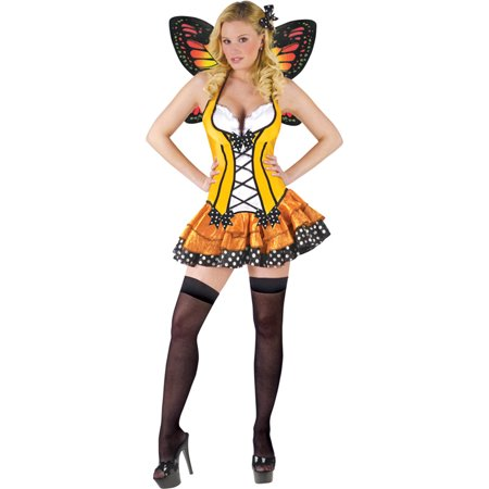 Morris Costumes Fun World Spring Butterfly Fitted dress with garters attached and matching wings Medium 10-12, Style FW122164MD