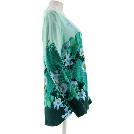 Isaac Mizrahi V neck Engineered Floral Printed Cardigan Women's A300868
