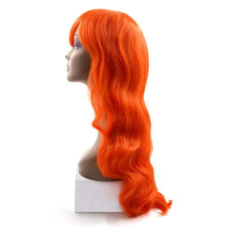 """31.5"""" longueur Perruque longue de cheveux synthétiques brésiliens Orange - image 2 de 4"""