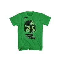 Star Wars Bobba Fett Bounty Hunter Stencil Graphic T-Shirt | XL