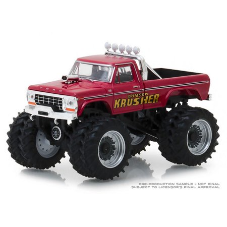 1/64 1973 Ford F-250 Monster Truck, Krimson Krusher, Kings of Crunch Series 2
