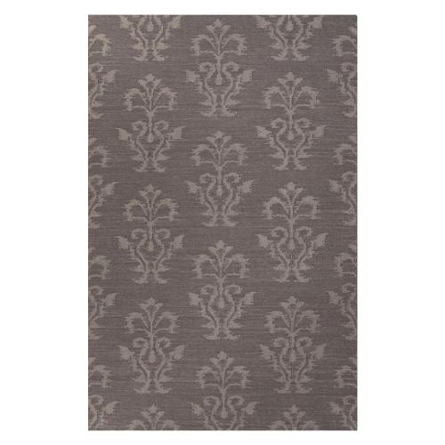 Flatweave Medallion Pattern Gray  Wool Area Rug (2x3)